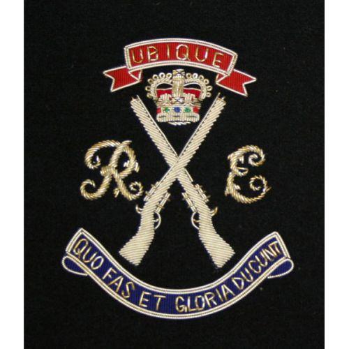 Royal Engineers Rifle Association Blazer Badge, Birmingham, Silk