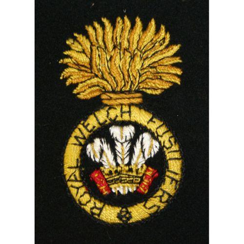 R Welch Fusiliers Silk Blazer Badge