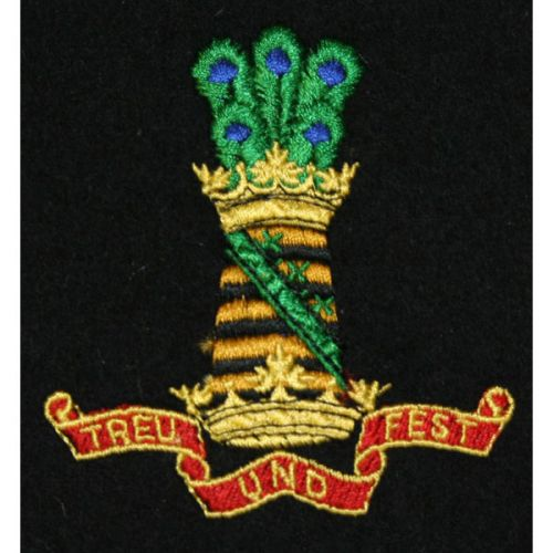 11th Hussars Blazer Badge, Silk