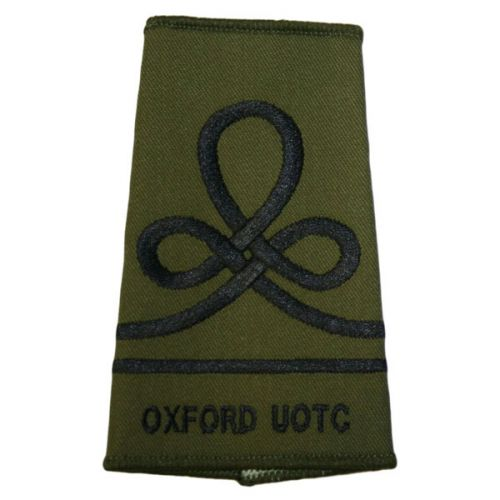Oxford UOTC RA Rank Slides, Olive Green, (JUO)