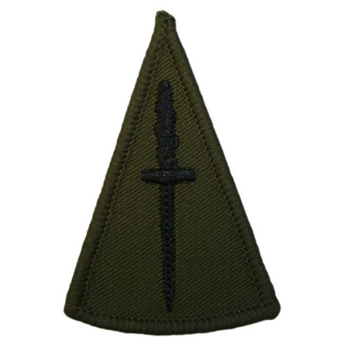 RM Rank Slides, Olive Green, (Commando Dagger)