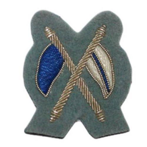 Signaller (Silver on QOY Blue) Badge