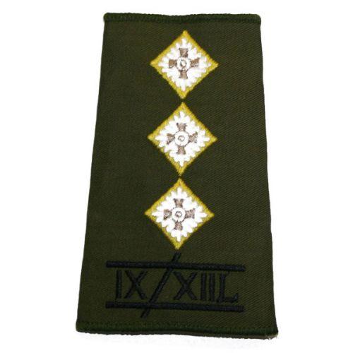 9th/12th Lancers Rank Slides, Olive Green, (Capt)
