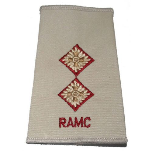 RAMC Rank Slides, Cream, (Lt)