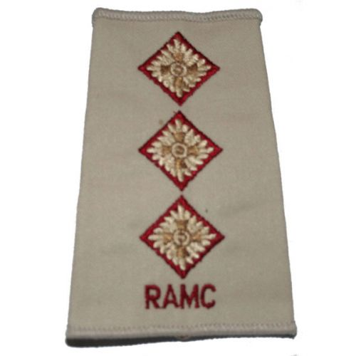 RAMC Rank Slides, Cream, (Capt)