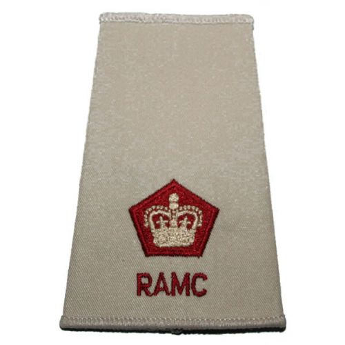 RAMC Rank Slides, Cream, (Maj)