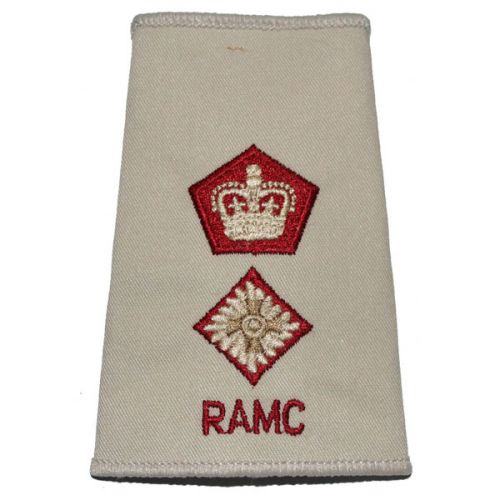 RAMC Rank Slides, Cream, (Lt/Col)