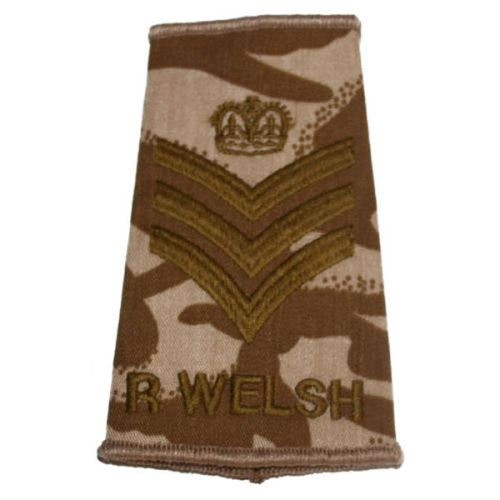 R WELSH Rank Slides, Desert, (C/Sgt)