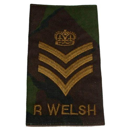 R WELSH Rank Slides, CS95, (C/Sgt)