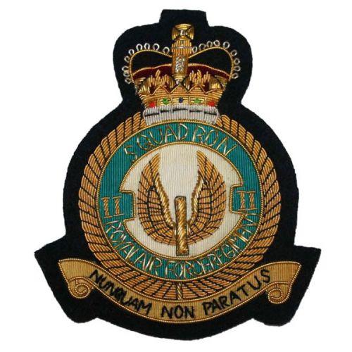 RAF Regt 2 Sqn Wire Blazer Badge