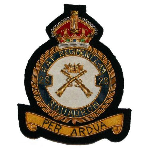 RAF Regt 28 LAA Sqn Wire Badge
