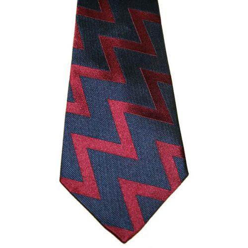 RA Zig-Zag Silk Tie