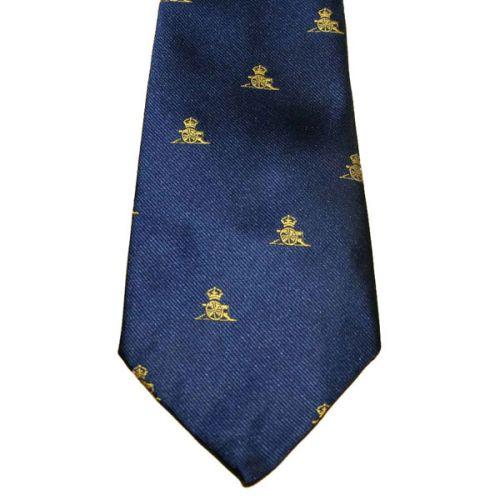 RA Gold Gun On Navy Tie