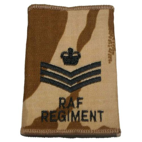 RAF Regiment Rank Slides, Desert, (F/Sgt)