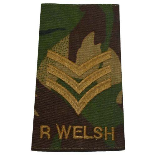 R WELSH Rank Slides, CS95, (Sgt)