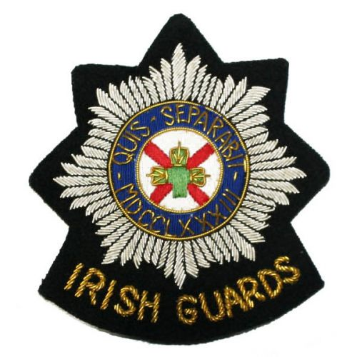Irish Guards Wire Blazer Badge