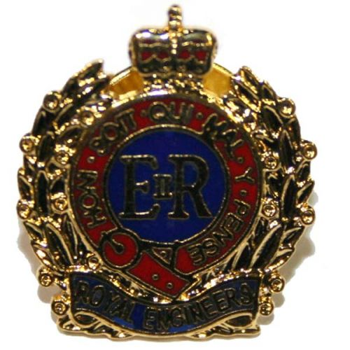 RE 33 EOD Lapel Badge