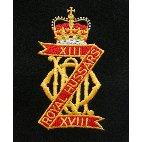 13th / 18th Hussars Blazer Badge, Silk
