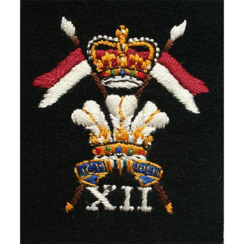 12th Royal Lancers Silk Blazer Badge