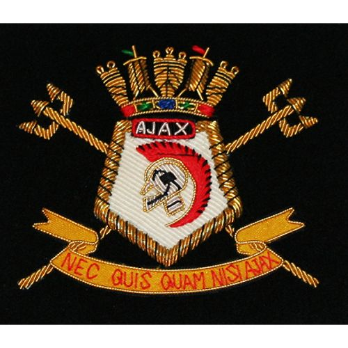HMS Ajax Association Blazer Badge, Wire