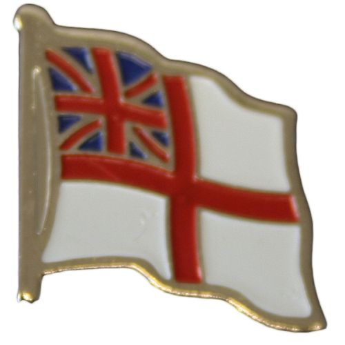 RN White Ensign Lapel Badge