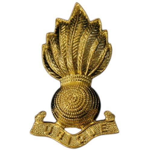 RA Officer's Collar Badges-Gilt
