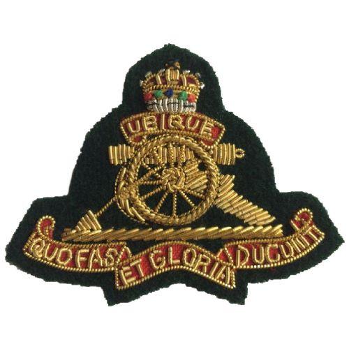 Royal Artillery Beret Badge,Commando Green Officers