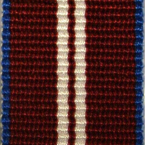 Full Size Queens Diamond Jubilee Medal Ribbon - E.C.Snaith