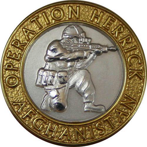 OP-HERRICK Afghanistan Gilt Rim/Silver Centre Blazer Button (24L)