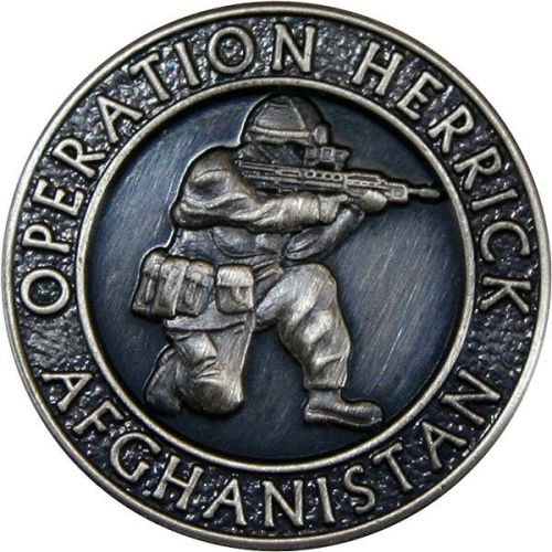 OP-HERRICK Afghanistan Silver Oxidised And Relieved Blazer Button (32L)