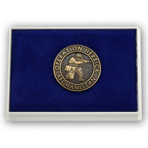 OP-HERRICK Afghanistan Bronze Relieved Lapel Badge
