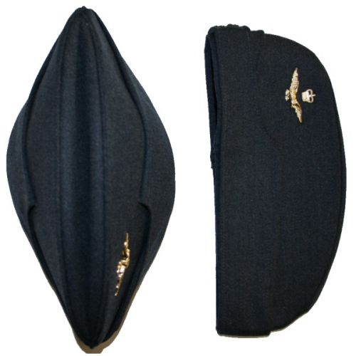 Royal Air Force Side Cap With Officers Badge