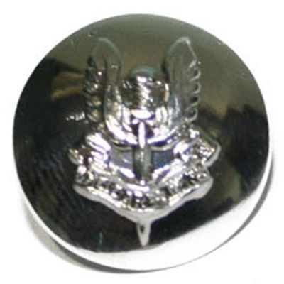 Special Air Service Button, Silver Anodised (22L)